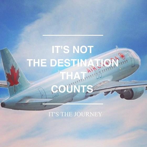 It's not the destination that counts, it's the journey.